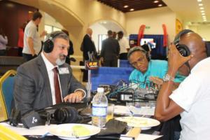 Amalgamated Security Chairman Michael Aboud on Radio IMG 5146