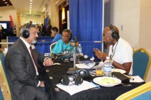 Amalgamated Security Chairman Michael Aboud on Radio IMG 5147
