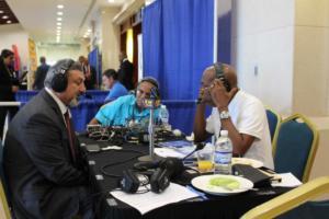 Amalgamated Security Chairman Michael Aboud on Radio IMG 5148