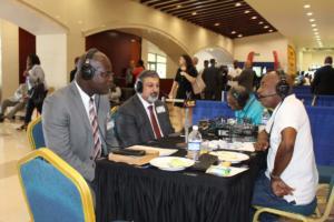 Amalgamated Security Chairman Michael Aboud on Radio IMG 5156