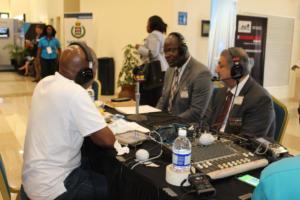 Amalgamated Security Chairman Michael Aboud on Radio IMG 5157