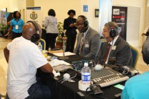 Amalgamated Security Chairman Michael Aboud on Radio IMG 5158
