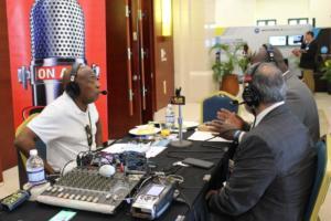 Amalgamated Security Chairman Michael Aboud on Radio IMG 5159