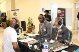 Amalgamated Security Chairman Michael Aboud on Radio IMG 5160